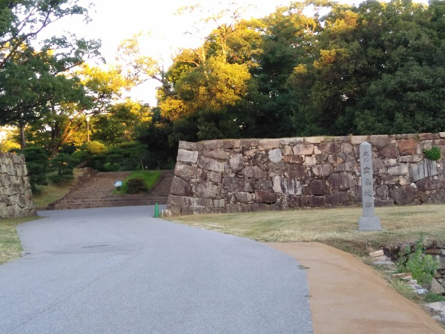 広島城裏御門跡