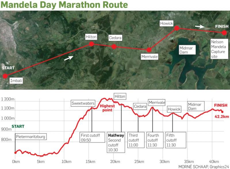 マンデラデーマラソンコース図