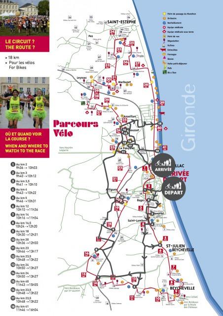 メドックマラソンコース図